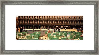 Tourists Outside Of A Building, Venice Framed Print