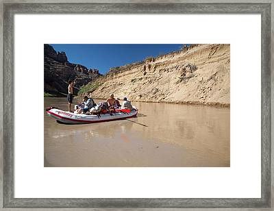 Tourists Rafting Framed Print by Jim West
