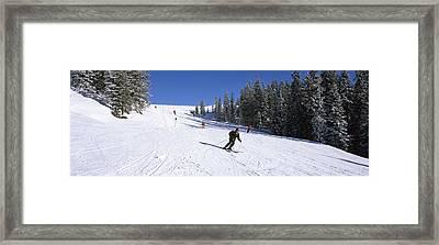 Tourists Skiing, Kitzbuhel, Westendorf Framed Print by Panoramic Images