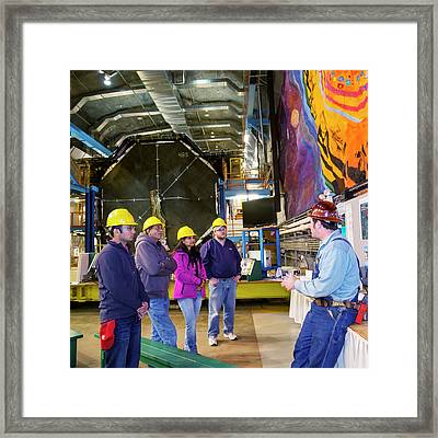 Tourists Visiting Minos Far Detector Framed Print by Jim West