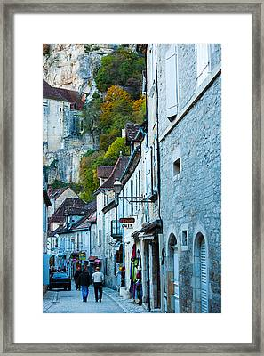 Tourists Walking In The Street Of Lower Framed Print by Panoramic Images
