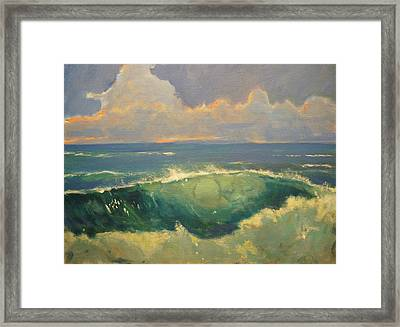 Tourmaline Surf Framed Print by Jim Noel