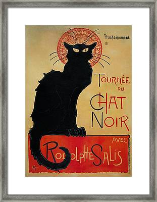 Tournee Du Chat Noir Framed Print by Celestial Images
