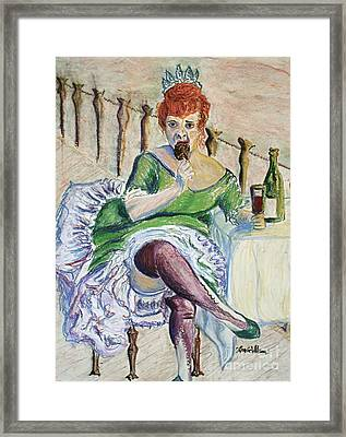 Framed Print featuring the painting Tous Les Soirs by D Renee Wilson