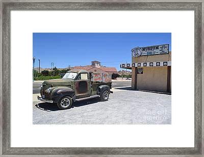 Framed Print featuring the photograph Tow Truck On Route 66 by Utopia Concepts
