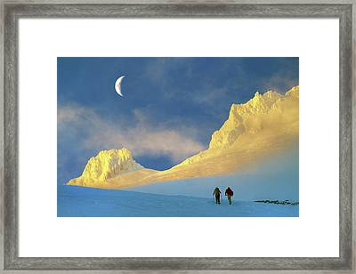 Toward Frozen Mountain Framed Print