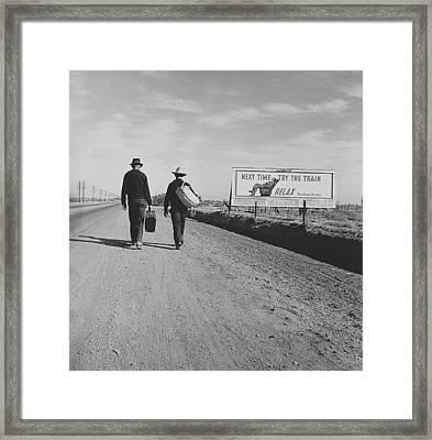 Toward Los Angeles California Framed Print by Historic Photos