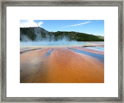 Framed Print featuring the photograph Toward The Blue Stream by Laurel Powell