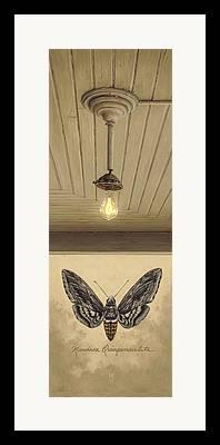 Old Light Bulb Framed Prints
