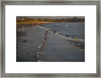 Towards Prout's Neck Framed Print by Len Stomski