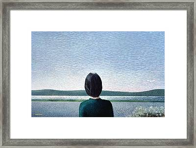 Towards The Hills, 1980 Acrylic Framed Print by Peter Davidson