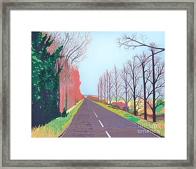 Towards The Sheppey Crossing Fom Iwade Framed Print