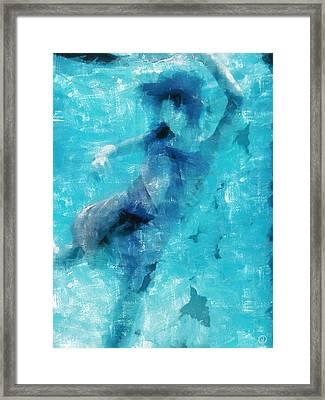 Towards The Surface Framed Print by Gun Legler