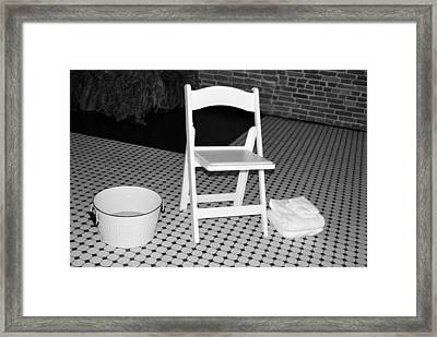 Towel And Basin Framed Print