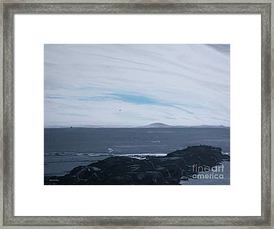 Tower 3 Jetty At Low Tide Framed Print by Ian Donley