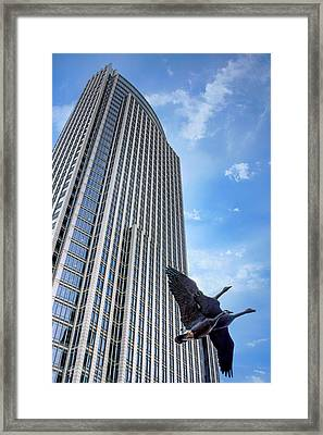 Tower And Geese Framed Print by Nikolyn McDonald