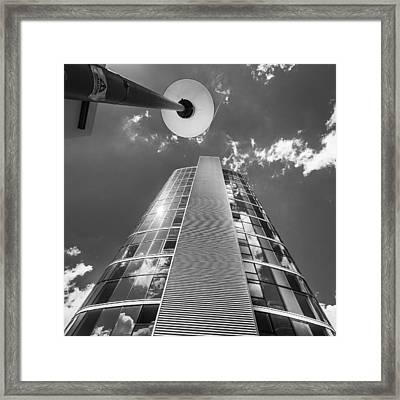 Tower And Lamppost. Framed Print