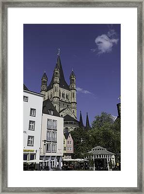 Tower And Spire View Cologne Framed Print by Teresa Mucha