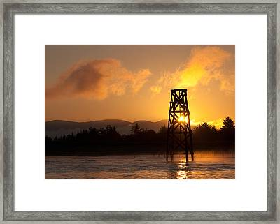 Framed Print featuring the photograph Tower At Dawn by Erin Kohlenberg