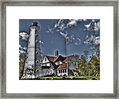 Framed Print featuring the photograph Tower At North Point by Deborah Klubertanz