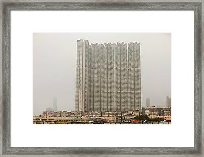 Tower Block Accommodation Kowloon Framed Print by Ashley Cooper