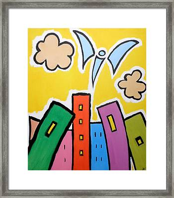 Tower Blocks Framed Print