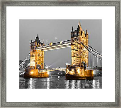 Tower Bridge - London - Uk Framed Print by Luciano Mortula