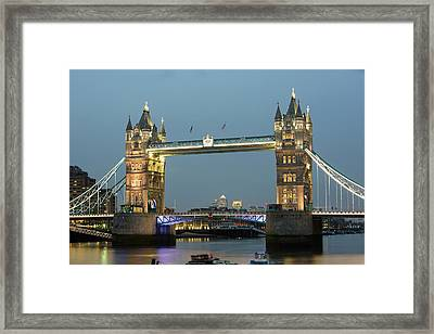 Tower Bridge Across The River Thames Framed Print by Ashley Cooper