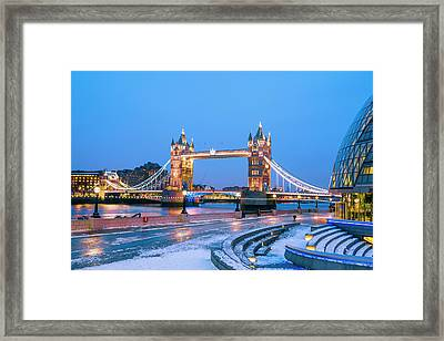Tower Bridge And City Hall London Framed Print by Owenprice