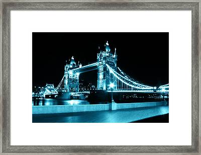 Tower Bridge Blue Framed Print by Dan Davidson
