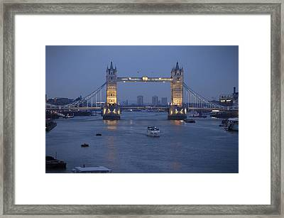 Tower Bridge - England Framed Print by Mike McGlothlen
