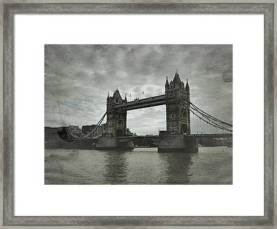 Tower Bridge In London Over The Thames Framed Print