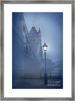 Tower Bridge In The Fog Framed Print