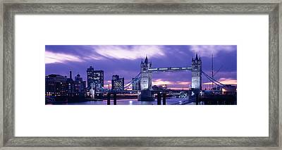 Tower Bridge, Landmark, London Framed Print by Panoramic Images