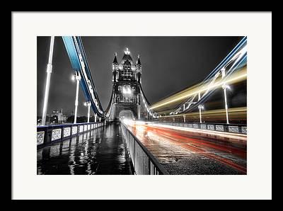 London At Night Framed Prints