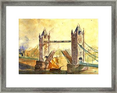 Tower Bridge London Framed Print by Juan  Bosco
