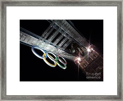 Tower Bridge London Olympics Night Framed Print