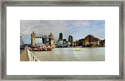 Tower Bridge London Skyline  Framed Print by David French