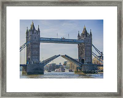 Tower Bridge Opened Framed Print