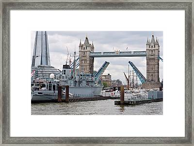 Tower Bridge Opens Framed Print