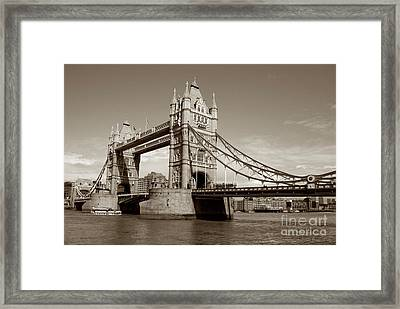 Tower Bridge - Sepia Framed Print