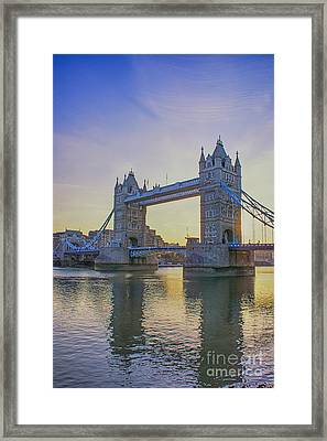 Tower Bridge Sunrise Framed Print