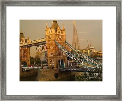 Tower Bridge London Olympics Framed Print