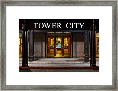 Tower City Cleveland Ohio Framed Print by Frozen in Time Fine Art Photography