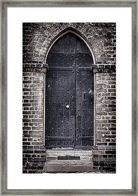 Tower Door Framed Print by Heather Applegate