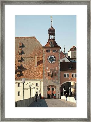 Tower Entrance To Old Town Framed Print