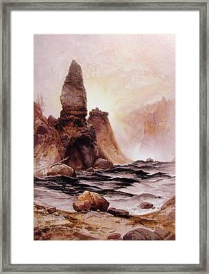 Tower Falls At Yellowstone Framed Print by Thomas Moran