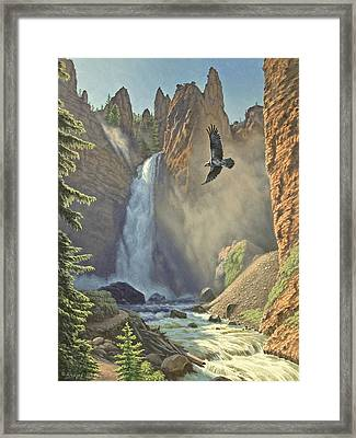 Tower Falls  Framed Print