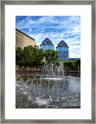 Tower Fountains Framed Print