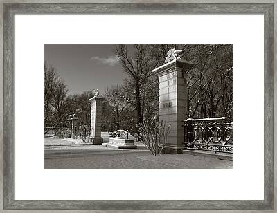 Tower Grove East Gate Framed Print